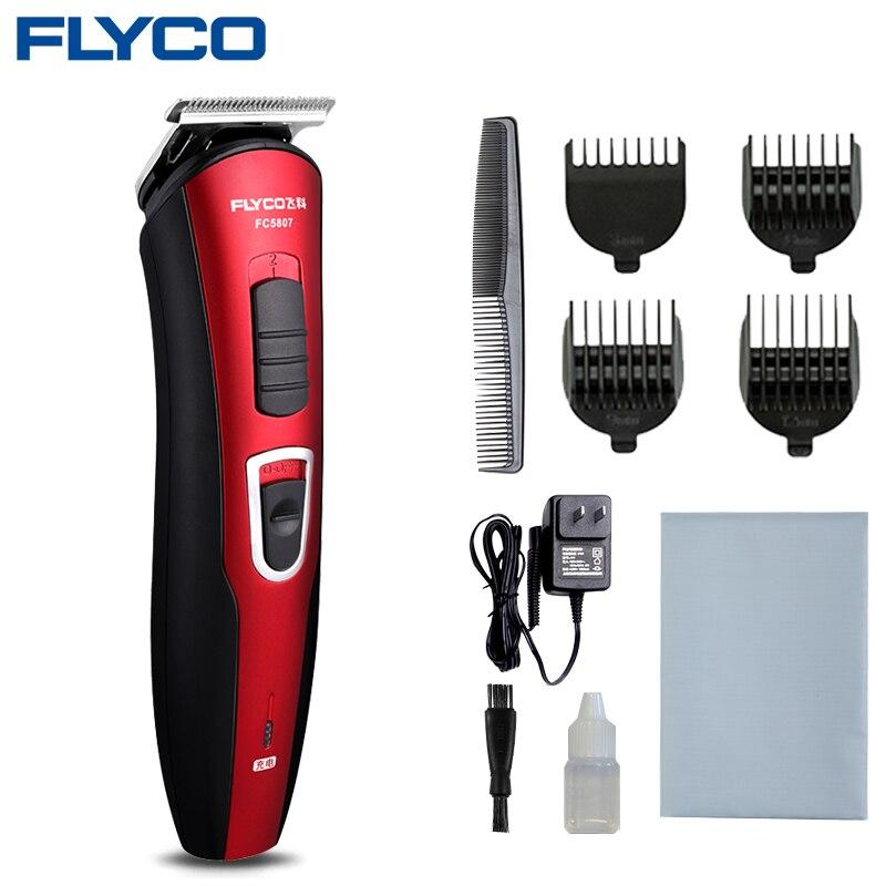 Flyco rouge Maquina De cortar Cabelo Rechargeable à tondeuse à barbe pour hommes professionnel berbère Makinesi Profesyonel FC5807