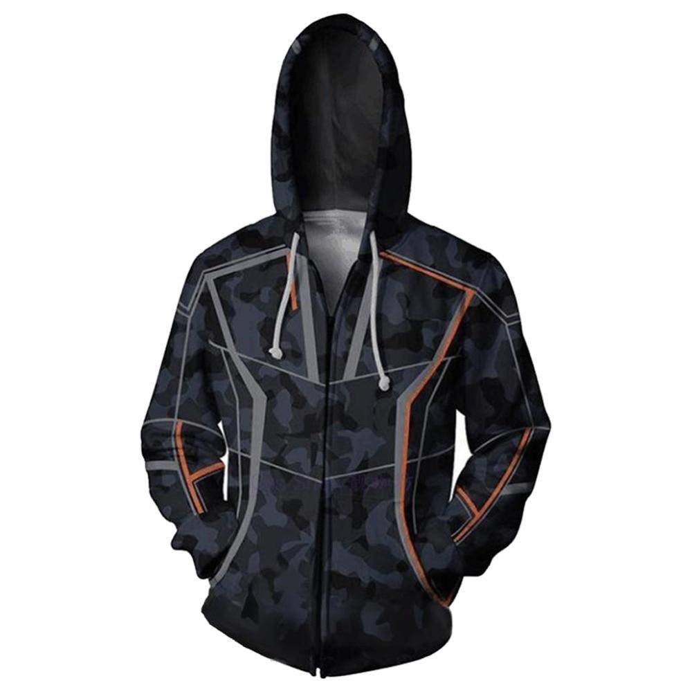 Avengers Infinity War Hoodie Cosplay Costume Iron Man Hooded Robert Downey Jr Zipper Hoodie Sweatshirt jacket Halloween Cosplay