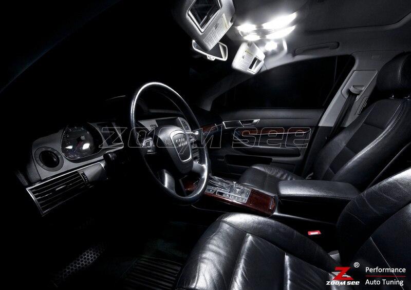 11 шт. x светодиодный купольный светильник для чтения интерьера, комплект посылка для Audi A6 S6 RS6 C6 sedan(2005-2011