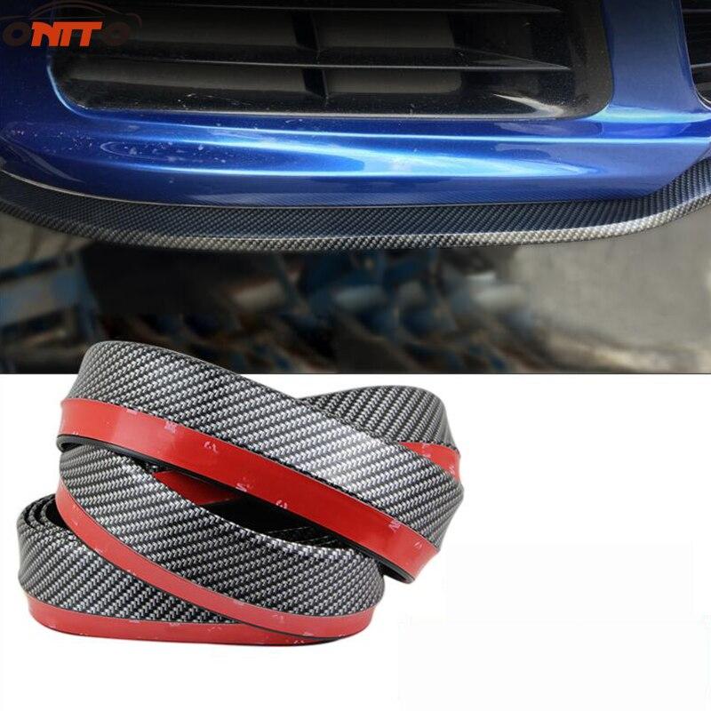 2.5M auto bumper carbon fiber Rubber protection Anti collision car strips For A1 A2 A3 A4 A5 A6 A7 A8 Q1 Q3 Q5 Q7 TT R8 S RS