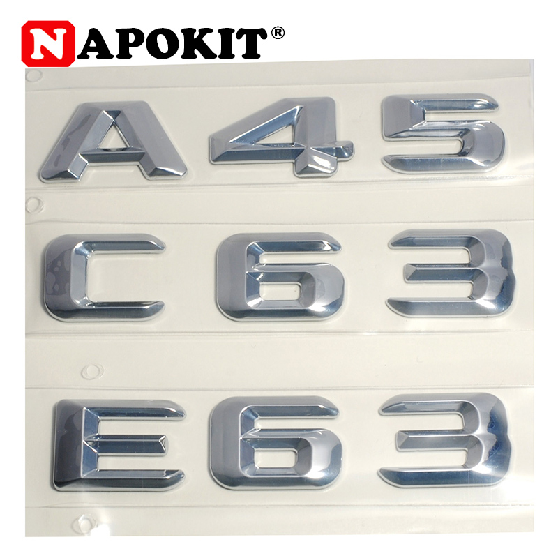 3D ABS Plastic A 45 A45 C 63 C63 E 63 E63 Trunk Rear Logo Badge Emblem Sticker for Mercedes Benz W176 AMG A Class A45 C63 E63 image