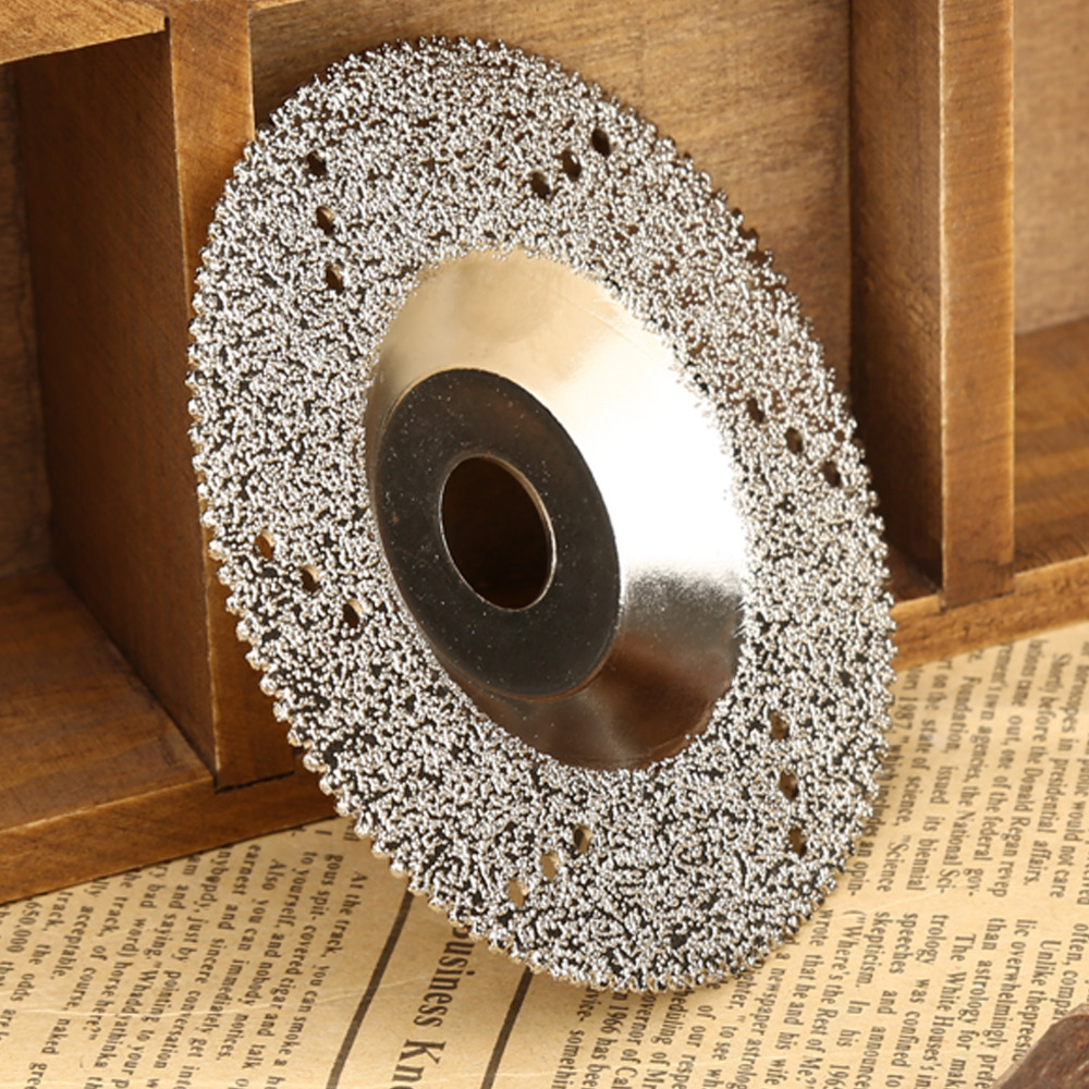 1PC 100mm Diamond Coated Cutting Disc Saw Blade Grinding Wheel Disc for Rotary Tool Dremel Accessories Power Tools