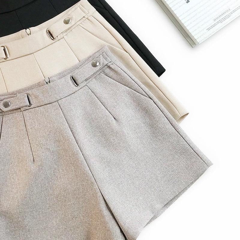 AcFirst Spring Women Fashion Black Gray Sexy Shorts Party Club Short Pants Plus Size Zipper Sexy Women Shorts Bottom S M L
