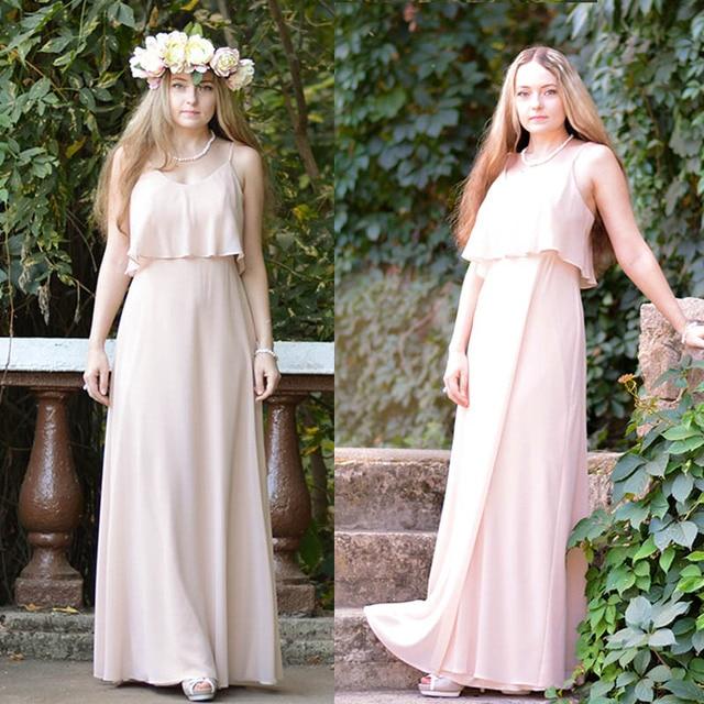 Elegant Bridesmaid Dresses Ever Pretty EP07130 Long Chiffon Dress A-line Ruffle 2019 Bridesmaid For Wedding Party Guest Dress Bridesmaid Dresses and Gowns