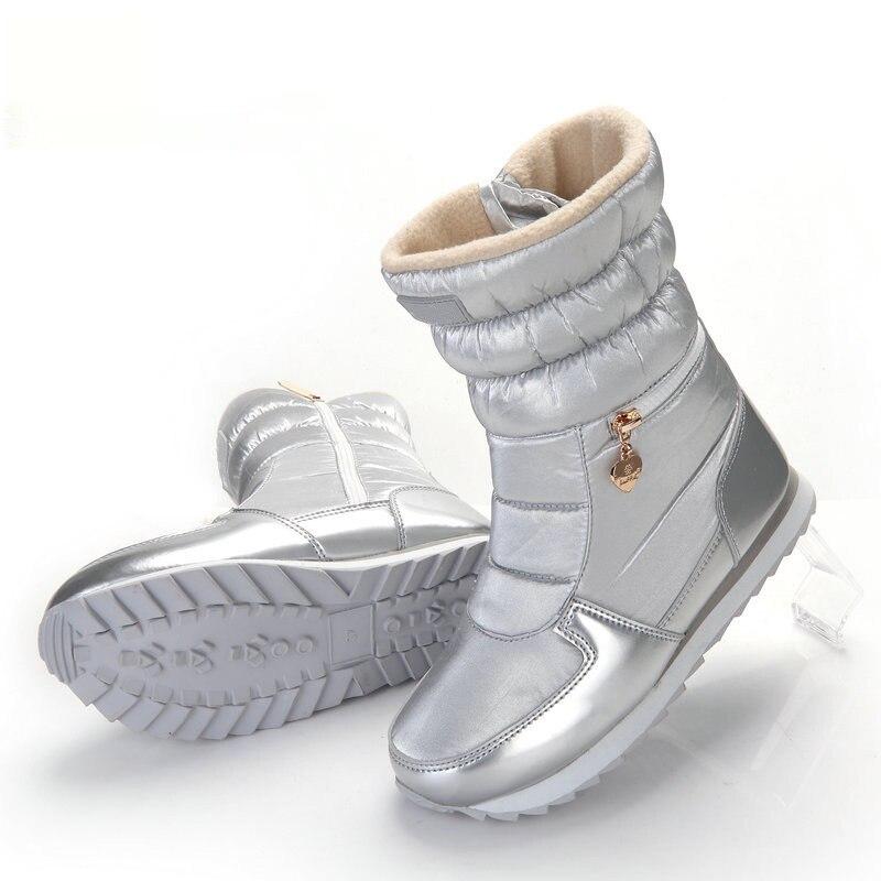 47dc5d8ec48 De Caliente Nieve Moda Zapatos Estilo Blanco Mujer 2019 Cuculus Chica plata  gris La Negro 1933 Botas Zip Invierno Plata Para Nuevo ...