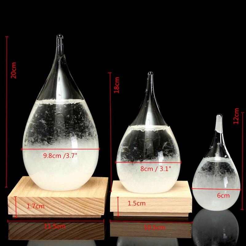 4 размера, атмосферный шторм, прогноз погоды, измеритель, барометр для бутылки, украшение для дома, прозрачное стекло