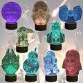 Envío Libre 1 Piece La Fuerza Despierta! multicolor Lámpara de Mesa Estrella de La Muerte 3D Star Wars R2D2 Darth Vader BB-8 Bulbificación Luz