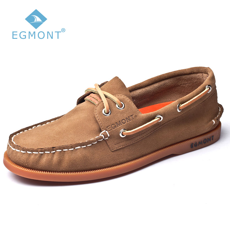 Egmont EG-52 Khaki Spring Summer Boat Shoes Mens Casual Shoes Loafers Genuine Leather Handmade Comfortable Breathable