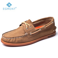 Egmont EG 52 Khaki Spring Summer Boat Shoes Mens Casual Shoes Loafers Genuine Leather Handmade Comfortable Breathable