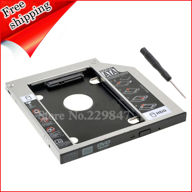 US $13 99  Free shipping SATA 2nd Hard Drive SSD HDD Caddy for HP Pavilion  17 15 14 replace GU70N dvd 9 5mm-in HDD Enclosure from Computer & Office on