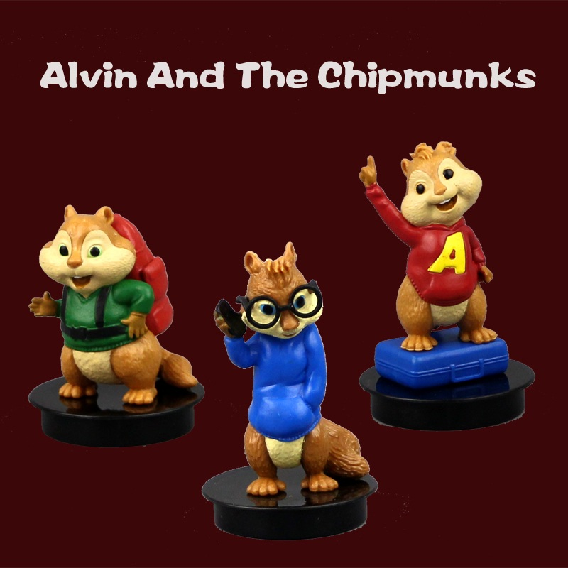 Cartoon Model Alvin And The Chipmunks Alvin Simon Theodore Toy Opp Bag Packaging