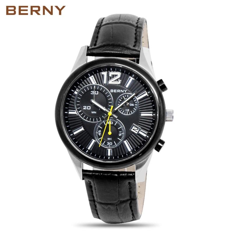 Berny Pánské hodinky Quartz Pánské hodinky Módní Top Luxusní - Pánské hodinky