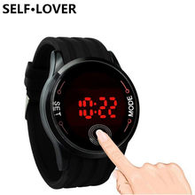 SELFLOVER Fashion Waterproof Mens Watches 2018 New LED Touch Screen Date Silicone Digital Wrist Watch Watch relogio masculino(China)