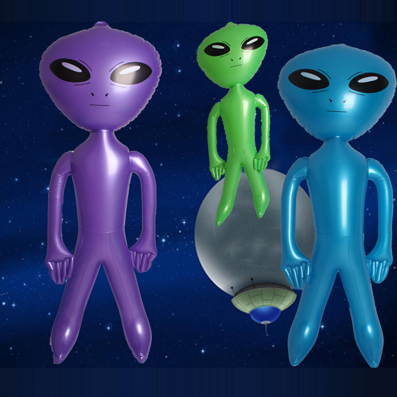85CM Inflatable Alien Model For Children Science Teach Model Boys Inflatable Toys Birthday Gifts Party Souvenirs Board Game