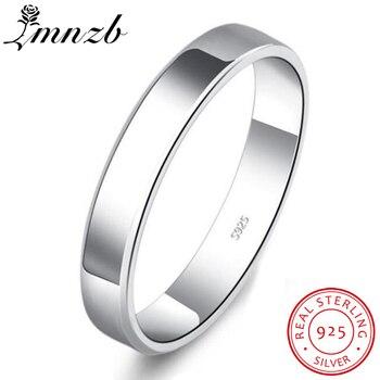 c90bd9212c54 LMNZB 100% Natural de plata esterlina 925 DE BODA diamante anillo anillos  boda banda bien amante de la joyería de regalo de compromiso anillos para  los ...