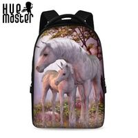 Horse Print Design Large Capacity Laptop Backpacks Women Work High Quality Notebook Computer Backpacks Girls School