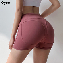 Oyoo Tummy Control Athletic Shorts Booty Push Up Gym Shorts For Women Sport Femme Yoga Shorts Workout Clothes