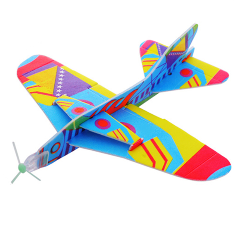 Magic Roundabout Combat Aircraft Foam Paper Airplane Model Creative Hand Throw Flying Glider Planes Toys For Children Kids Toy