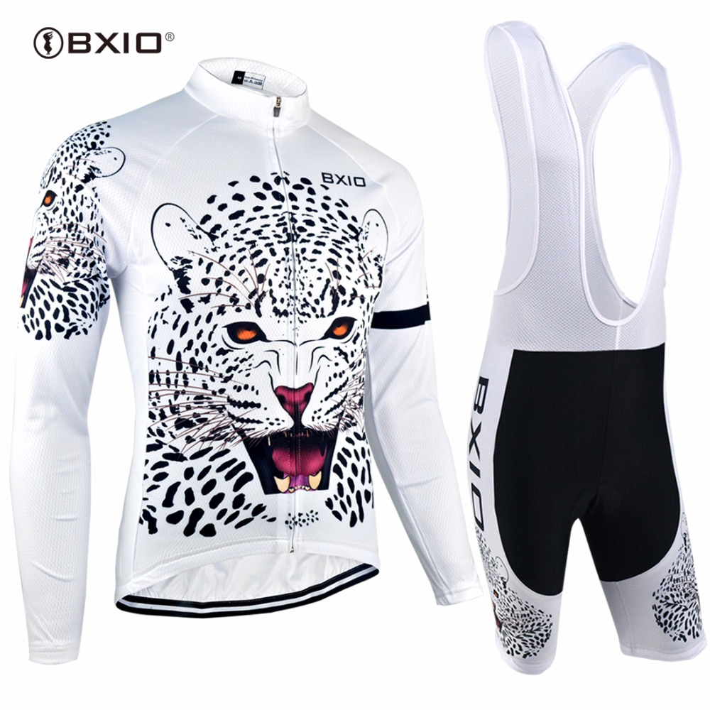 Bxio Pro Team Cycling Sets Long Sleeve Bike Clothing Ropa Ciclismo Bicycle Clothes Cycling Sets Bretelle