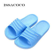 ISSACOCO 2018 Slippers Shoes Woman Sandals Pantuflas Women Solid Color Beach Bathroom Home Zapatillas Pantufa