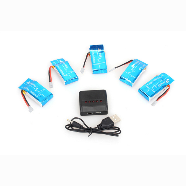 5 pcs 3.7V 850mAh Syma X5SW X5SC RC Battery with 5 in1 Charger Set for Drone Quadcopter Free Shipping