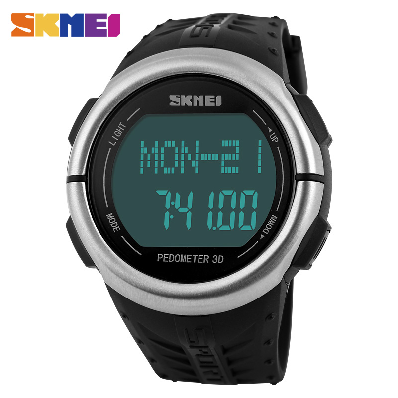 SKMEI Digital Sports Watch Fitness for Men Women Pedometer Heart Rate Monitor Calories Counter Led Outdoor Military Wristwatches