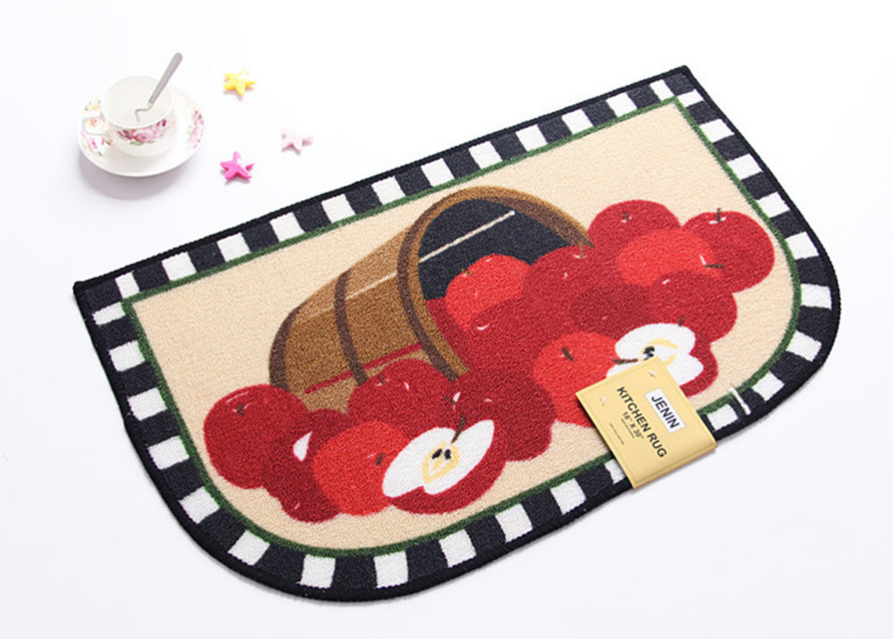 Tapis de cuisine tapis de fruits tapis de pomme enfants Vintage rouge tapis de bain sol chambre coin cuisine maison mariage tapis décoratif tapis tapis