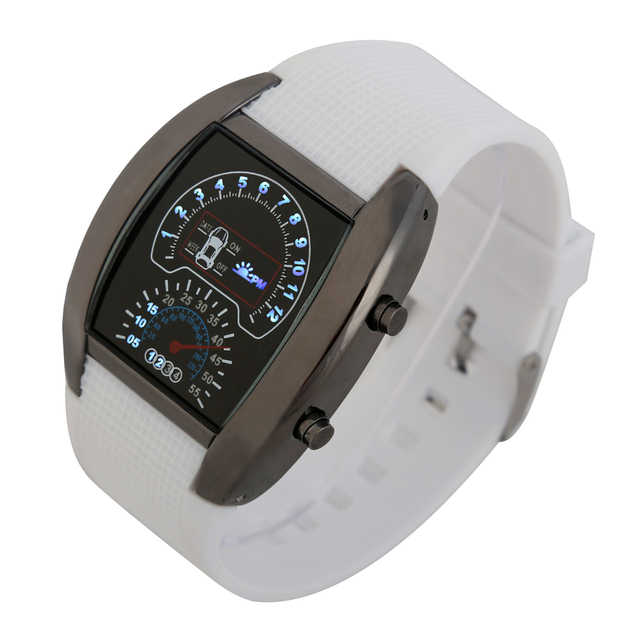 Mix 6colors Dashboard LED Version Promotional Car Watch Sector Sports Men Wrist Aviation Led Watch RW019