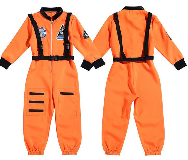 Plus Size New Cute Kids Aviator Costume Children Funy Cosplay Costume Astronaut Fancy Dress Up Party Costume