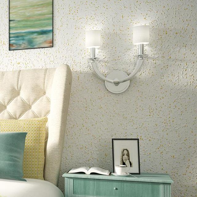 Moderne Beflockung Geprägte Sandstein Tapete Schlafzimmer