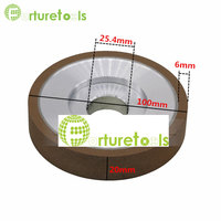 4 Inch Single Concave Abrasive Wheel Resinoid Diamond Grinding Wheel For Punch Machine Tungsten Carbide Material