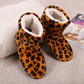 Free Shipping 2015 (1Pair/lot) Ladies adult indoor shoes, home indoor shoes, soft bottom soft surface, leopard indoor boots