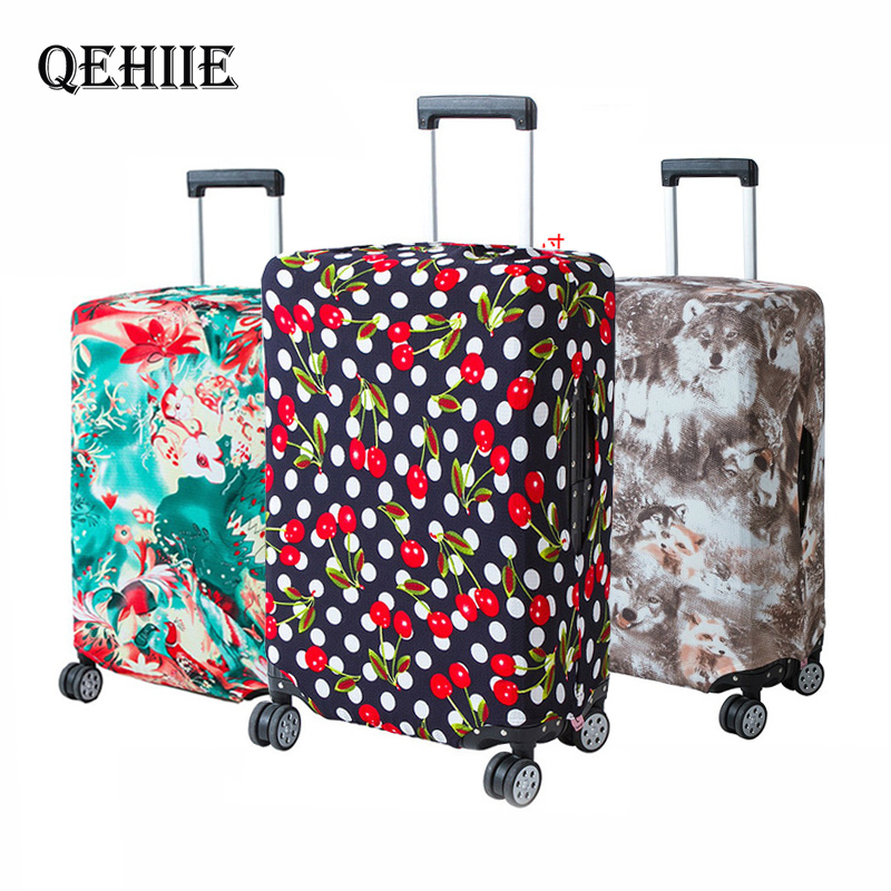 QEHIIE Brand Travel Luggage Protective Cover, Stylish And Cute Suitcase Dust Cover Apply To 18-32 Inch Cases, Travel Accessories