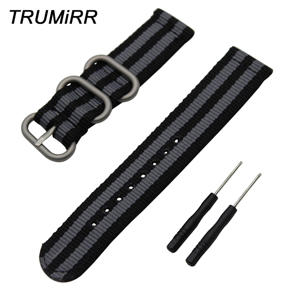 24mm Nylon Watchband Zulu Strap + Tool for Garmin Vivoactive HR GPS Sport Watch Band Fabric Wrist Belt Bracelet Multi Colors nylon watchband tool for suunto ambit 3 vertical spartan sport hr watch band steel buckle strap zulu wrist bracelet black