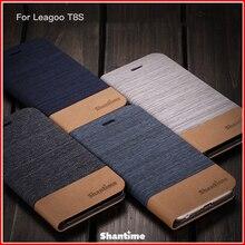 PU Leather Phone Case For Leagoo T8S Flip Case For Leagoo T8S Business Case Soft Silicone