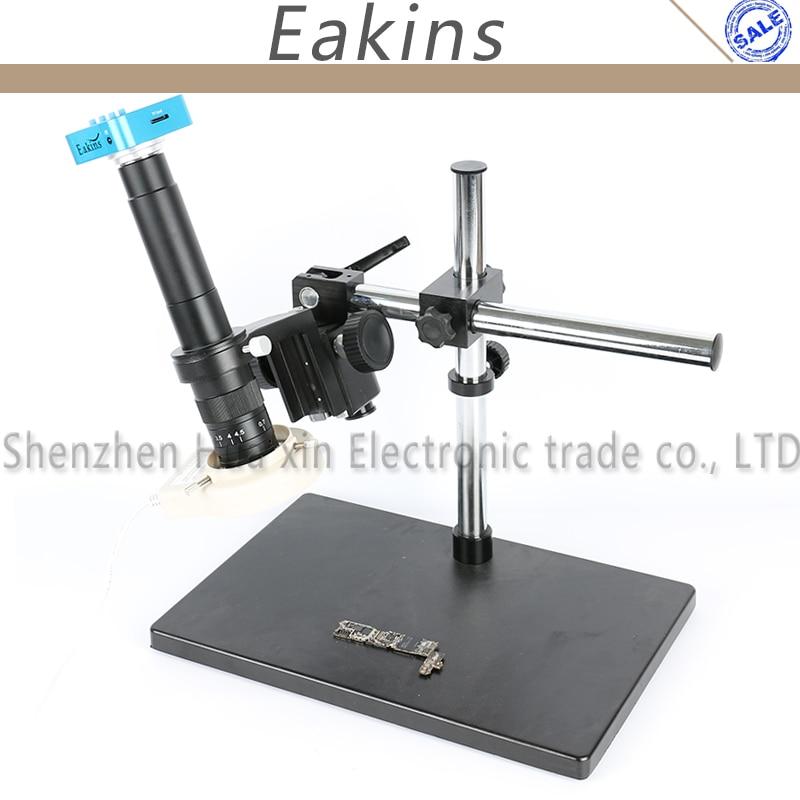 36MP 4K 2K 1080P HDMI USB Industry Digital Microscope Camera 180X/300X C-Mount Lens 144 LED Light Universal Rotating Bracket