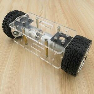 Image 2 - 2WD DIY Roboter Kit Acryl Platte Auto Chassis Rahmen Selbst balancing Mini Zwei stick 2 Räder 176 * 65mm Technologie Erfindung Spielzeug