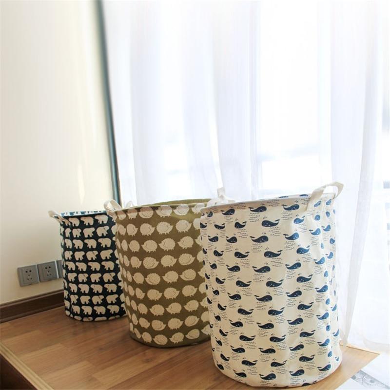 TTLIFE Large Laundry Hamper Bag Cartoon Stripe Clothes Storage Baskets Home  Clothes Barrel Bags Kids Toy Storage Laundry Basket