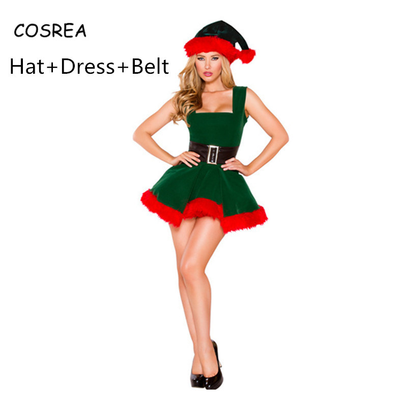 Dress Christmas Santa Claus Formal Dresses Ladies Clothes Short Party Dress Girls Women Dress Elegant Evening Cosplay Costumes