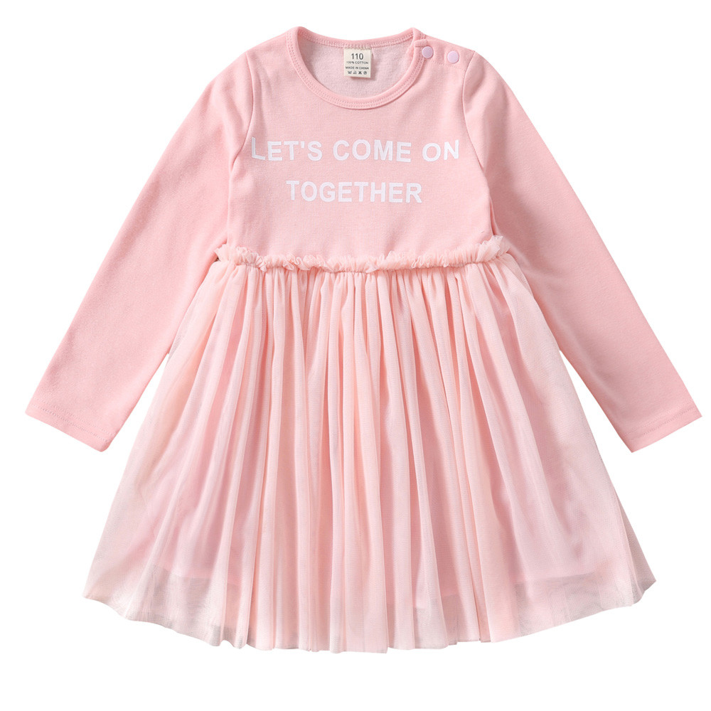 Princess Dress Baby Kids Girls Dress Toddler Party Lace Bow Letter Print Tutu Dress Girls Dresses 2018 odeon light 2881 5 odl16 023 белый зол патина стекло хрусталь люстра e14 5 60w 220v nomena