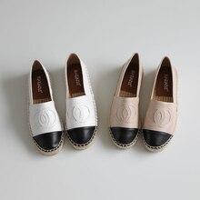 b5147beee4d42 Classical Women Fishman Shoes Hemp Jute Soled Famous Brand Designers Women  Flats Spring Autumn Leather Espadrilles