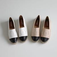 Classical Women Fishman Shoes Hemp Jute Soled Famous Brand Designers Women Flats Spring Autumn Leather Espadrilles Loafers Shoes