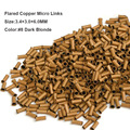 Cobre Micro Perlas de 3.4*3.0*6.0 MM 1000 Unids/Botella #8 Rubio Oscuro Microring Micro Enlace Kits de Extensión del pelo