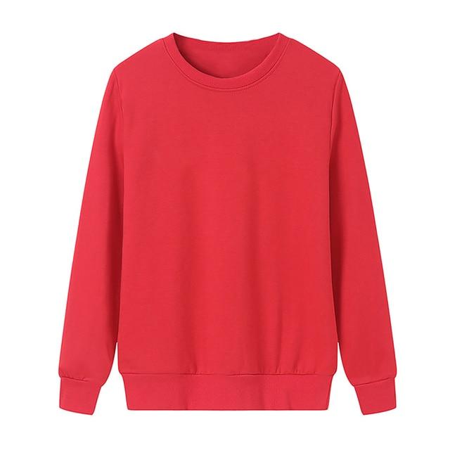 Solid Color Sweatshirt Women Casual Hoodie Fashion Winter Autumn Lasdies Pullover Fleece Black White Blue Red Gray Streetwear 3