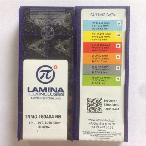 Carboneto de Inserção com a Melhor Original Lamina Qualidade 10 Pçs – Lote Frete Grátis Tnmg160404-nn Lt10 100% Mod. 134891