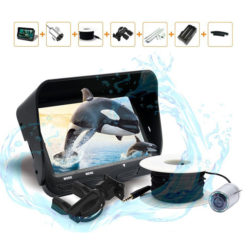Underwater Night Vision Video Fishing Camera 720P/30m Cable Line/4.3inch LCD Monitor/6 LED Light Visual Fish Finder Pesca Tackle underwater video fishing camera with 30m cable 24 pcs bright illuminated leds underwater camera skc006a30