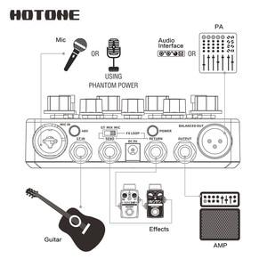 Image 4 - השפעות monoliphic רווח תחנה אקוסטית Preamp DI תיבת גיטרה & מיקרופון גיטרה 9V מתאם כלול AD20