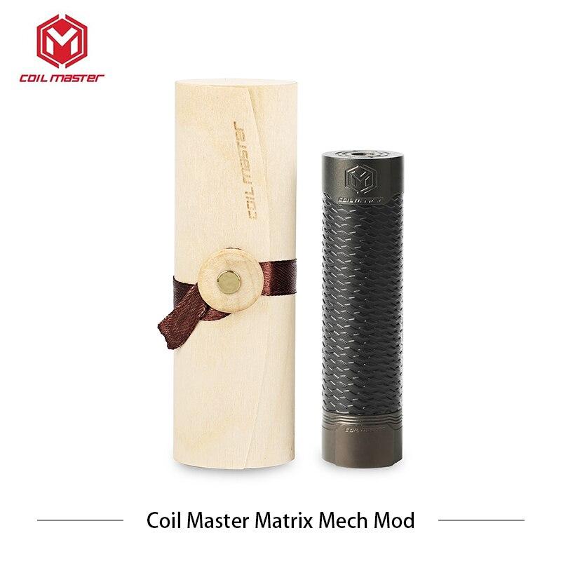 Originele mechanische Mod CoilMaster Matrix Mech Mod Coil Master elektronik sigara 510 Hybrid Verbinding 24mm e sigaret vaper-in Mods voor e-sigaretten van Consumentenelektronica op  Groep 1