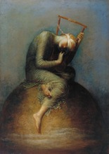George Frederick Watts: Hope SILK POSTER Decorative painting  24x36inch