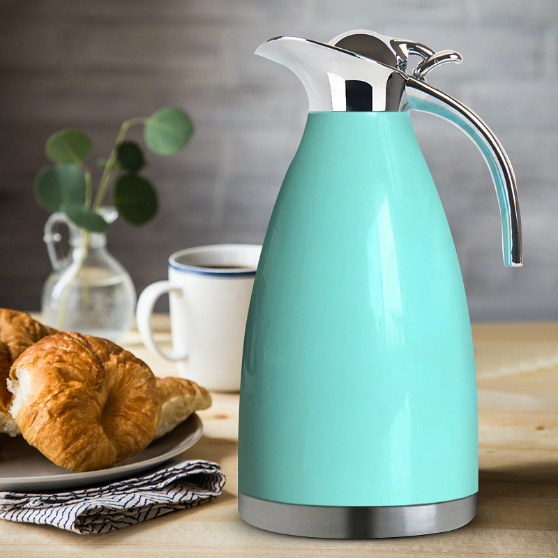 Electric kettle 2 L insulated pot 304 stainless steel vacuum thermos European Safety Auto-Off Function stainless steel insulated vacuum mug silver 350ml
